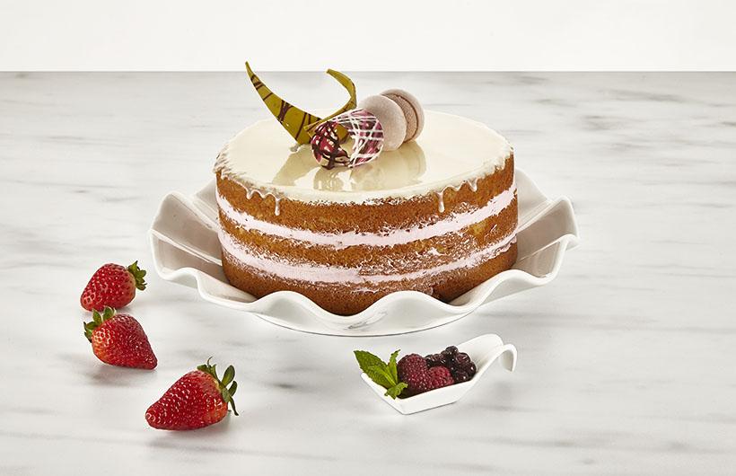Easy Bakery Flora Naked Wedding Cake - Best Color Wedding